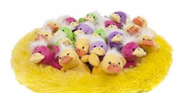 Peluches de pollitos